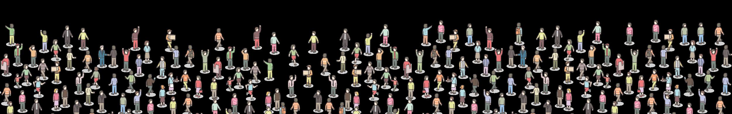 ilustración de ciudadanos